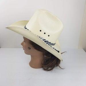 Stetson Sheplers Rancher Straw Cowboy Hat Size 56
